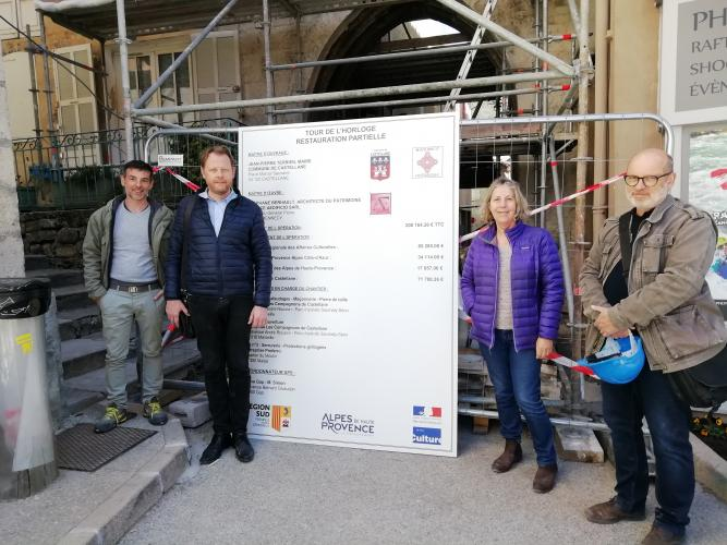 Point sur le chantier de la Tour de l'Horloge